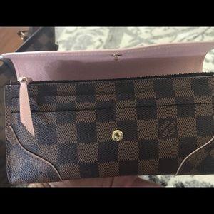 Louis Vuitton Bags - Caissa Damier Ebene Rose Ballerine wallet